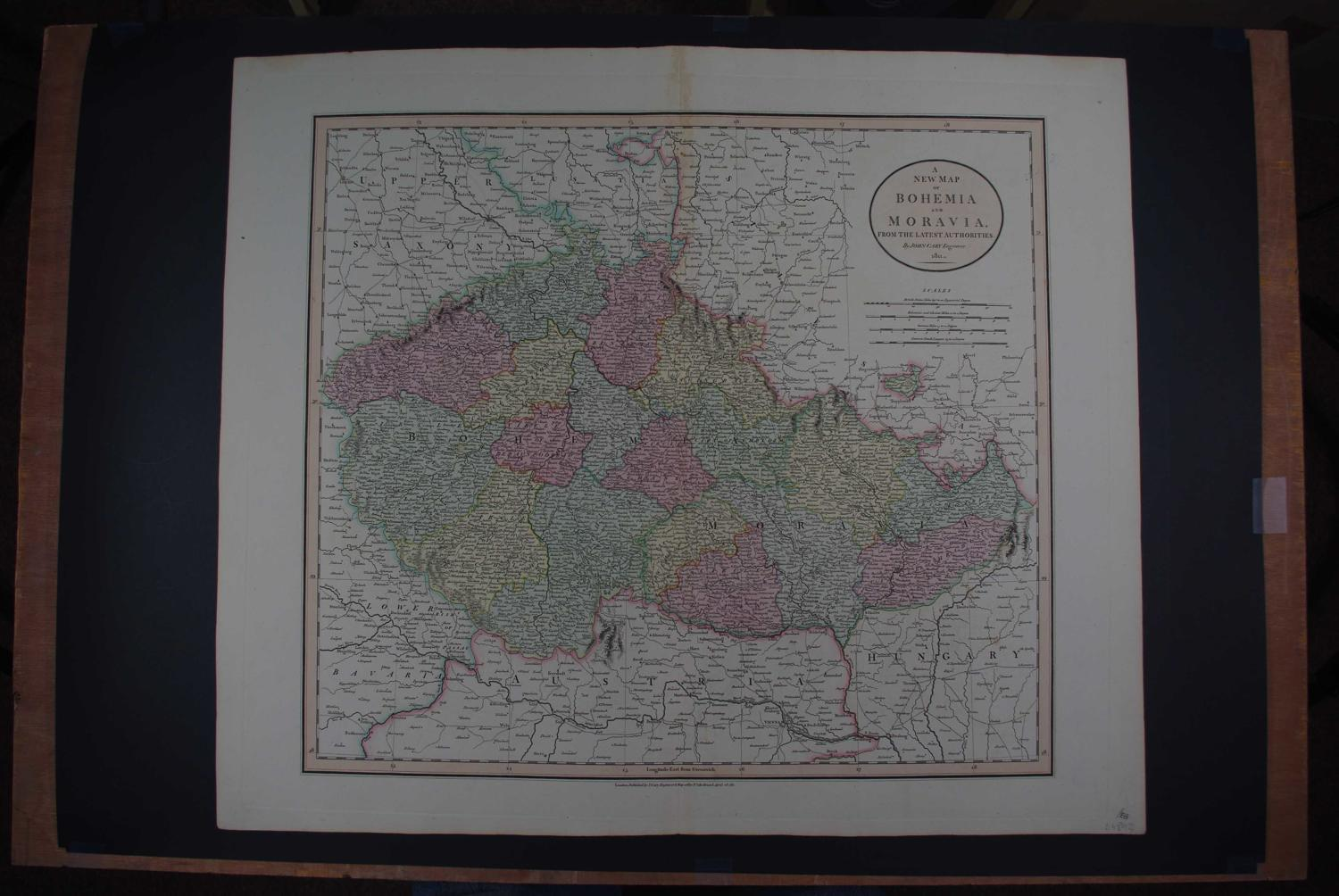 A new map of Bohemia and Moravia from the latest authorities by John C