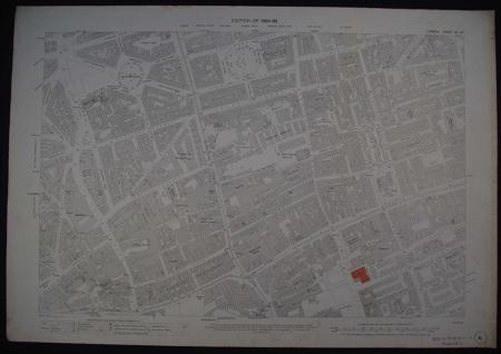 London. Sheet VII. 83. (Westminster) by Ordnance Survey:Edition of 1894-96