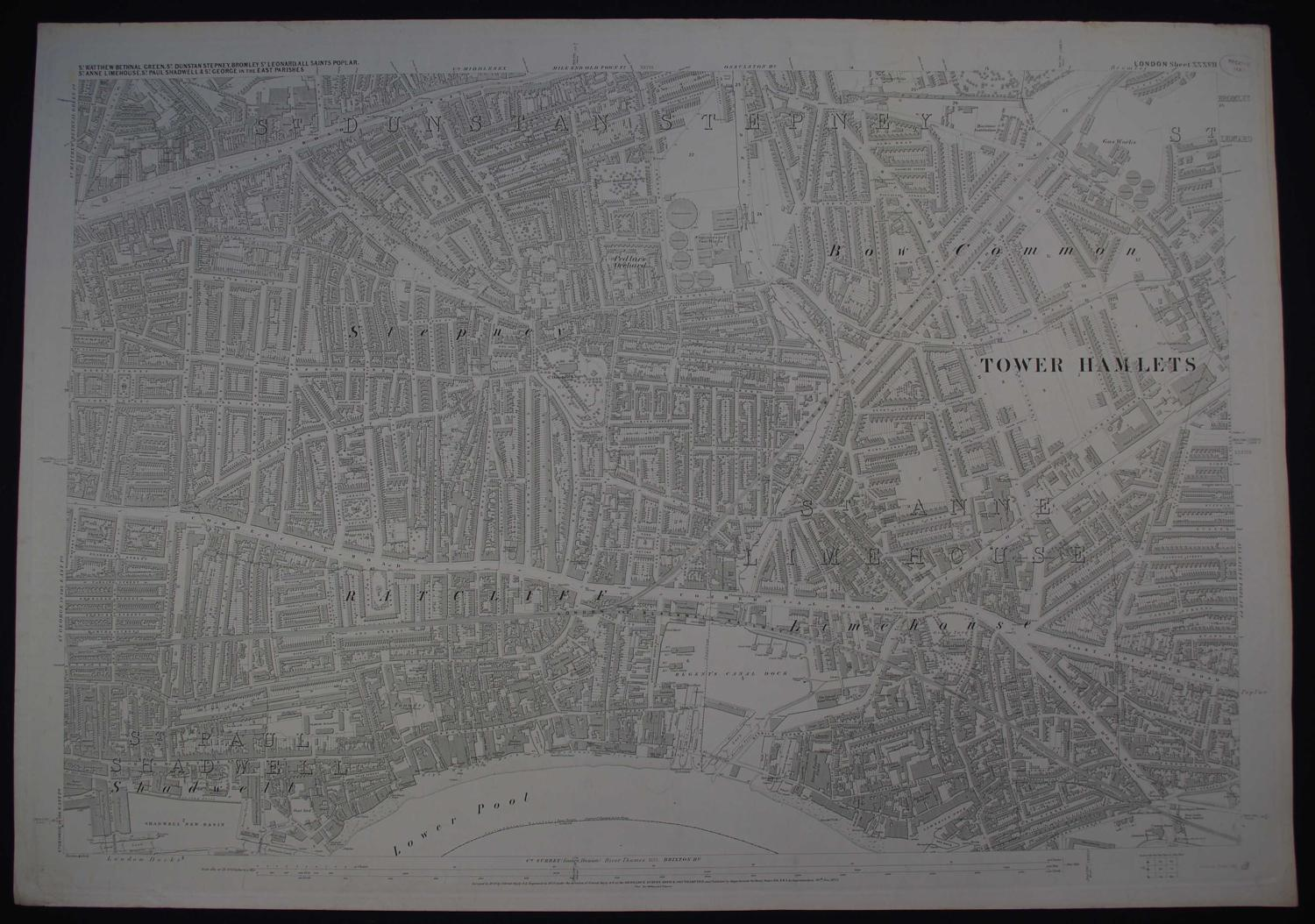 London. Sheet XXXVII by Ordnance Survey