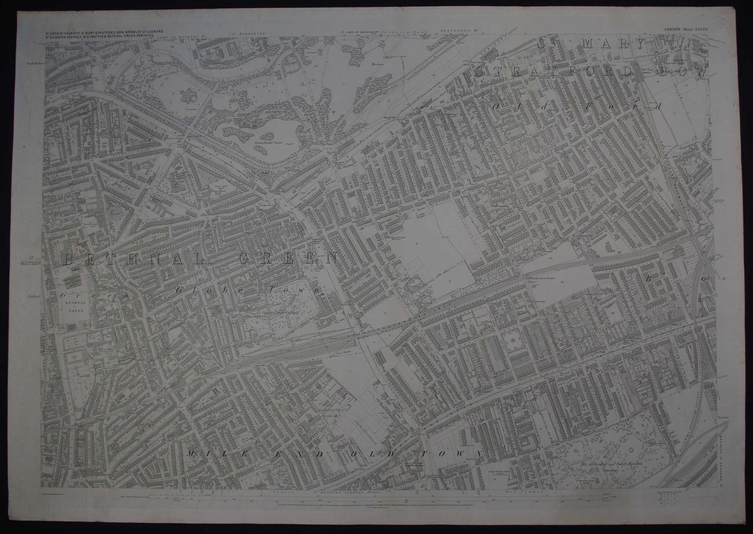 London. Sheet XXVIII by Ordnance Survey