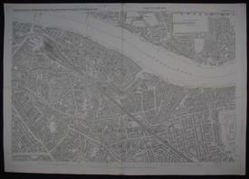 London. Sheet XLV FIRST EDITION 1872 by Ordnance Survey