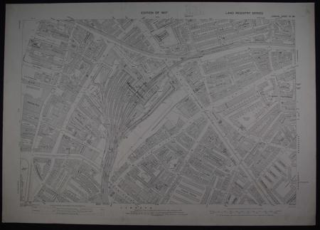 London.  Sheet VII. 84 by Ordnance Survey: Revision of 1907