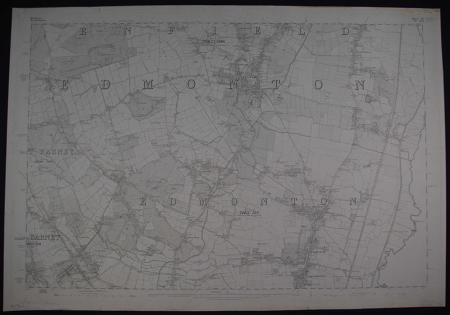 London. Sheet. Middlesex/Hertfordshire.  Sheet V11 Do XLV1 by Ordnance Survey