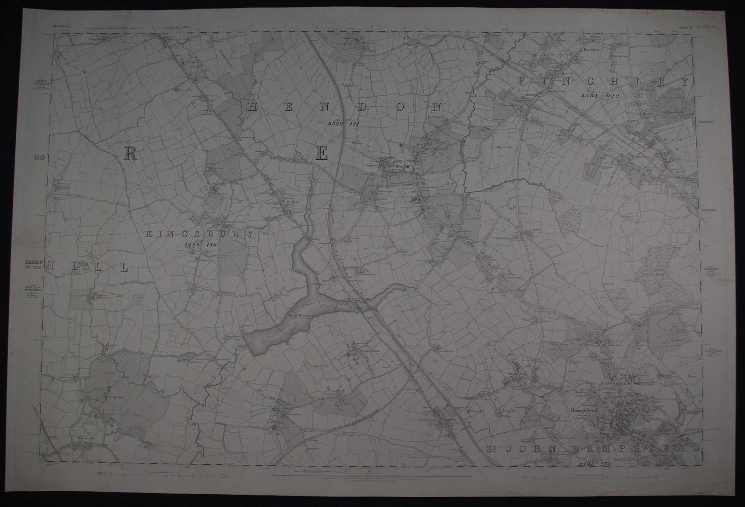 London. Sheet X1 by Ordnance Survey