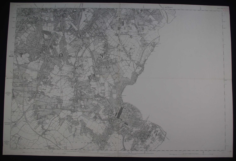 London. Sheet V111 by Ordnance Survey