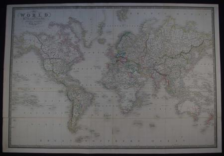 The World on Mercators Projection by James Wyld