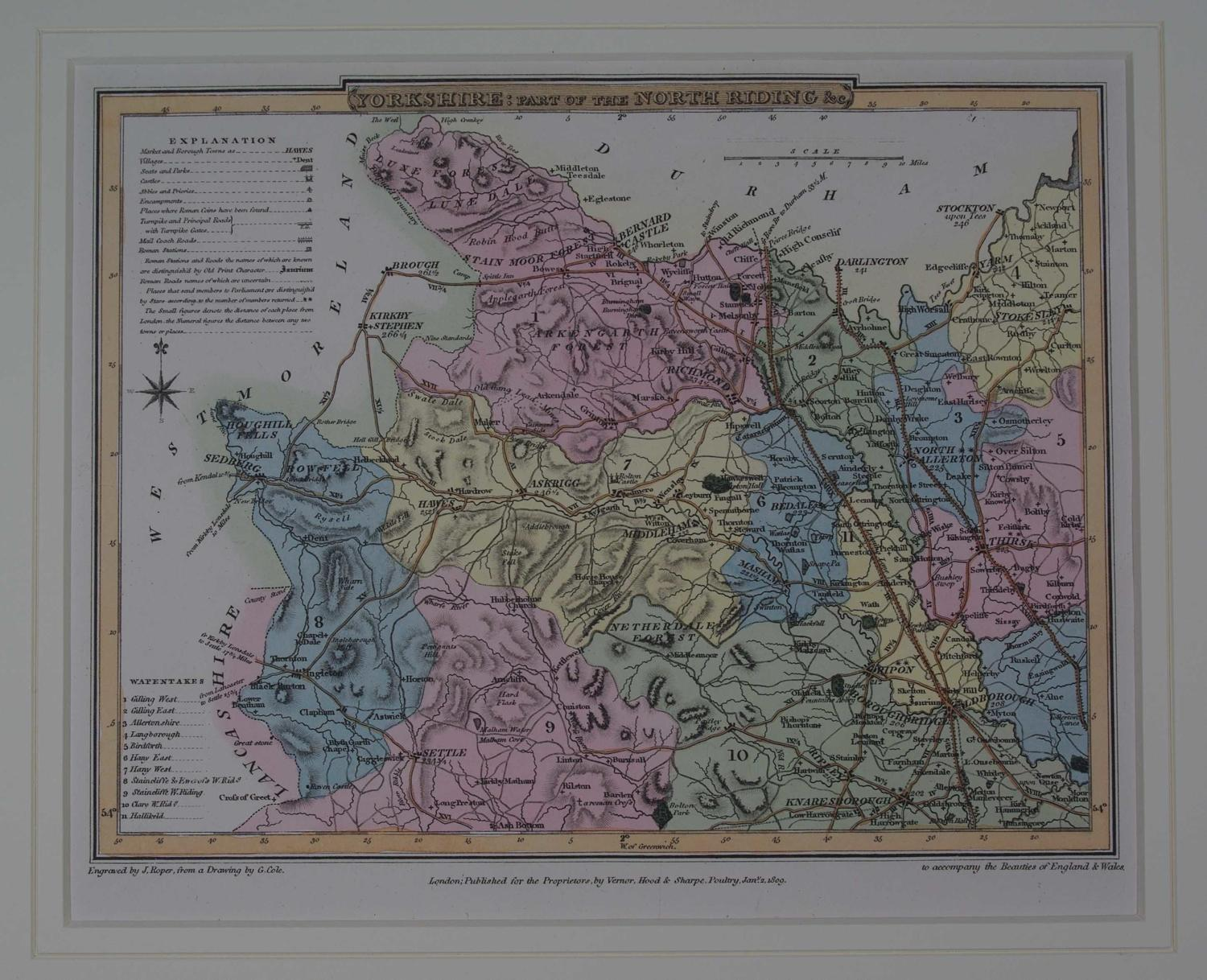 Yorkshire: part of the North Riding etc by G Cole / J Roper / Joseph Nightingale