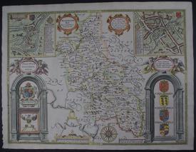 Buckingham, Both Shyre and Shiretowne describ by John Speed