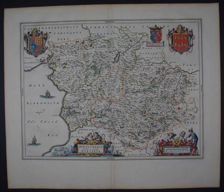Montgomeria Comitatus et Comitatus Mervinia by Johannes Blaeu
