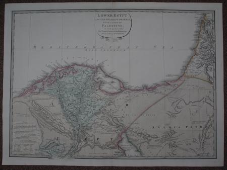 De la Rochette, L.S./ Lower Egypt..with part of Palestine by James Wyld