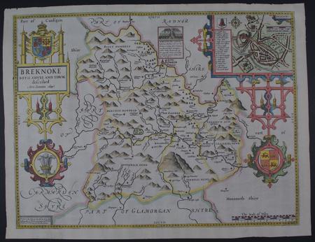 Breknoke (Breconshire) by John Speed