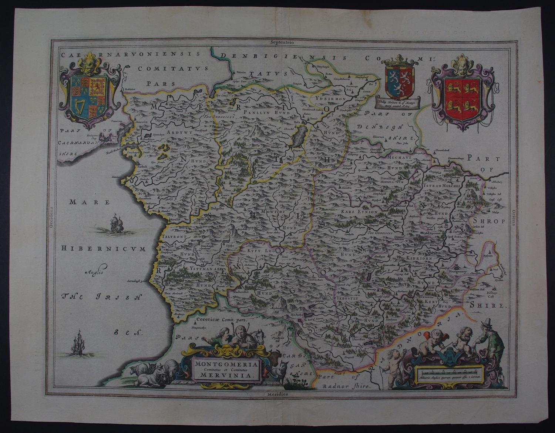 Montgomeria Comitatus et Comitatus Mervinia by Willem Janzoon Blaeu