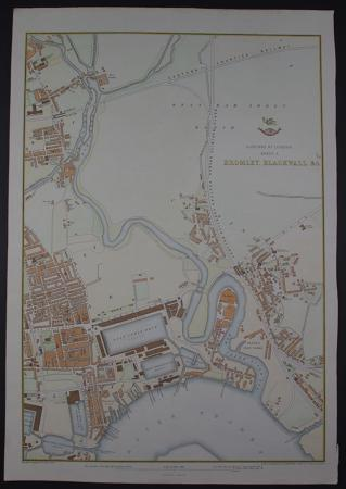 Suburbs of London Sheet 3 Bromley, Blackwall etc by Edward Weller