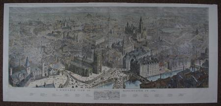 A Bird's Eye View of Manchester in 1889