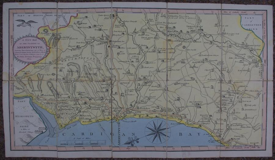 A New Map of the vicinity of Aberystwyth by John Evans