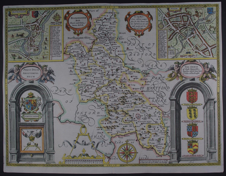 Buckingham, Both Shyre and Shiretowne describ. 1st ed by John Speed