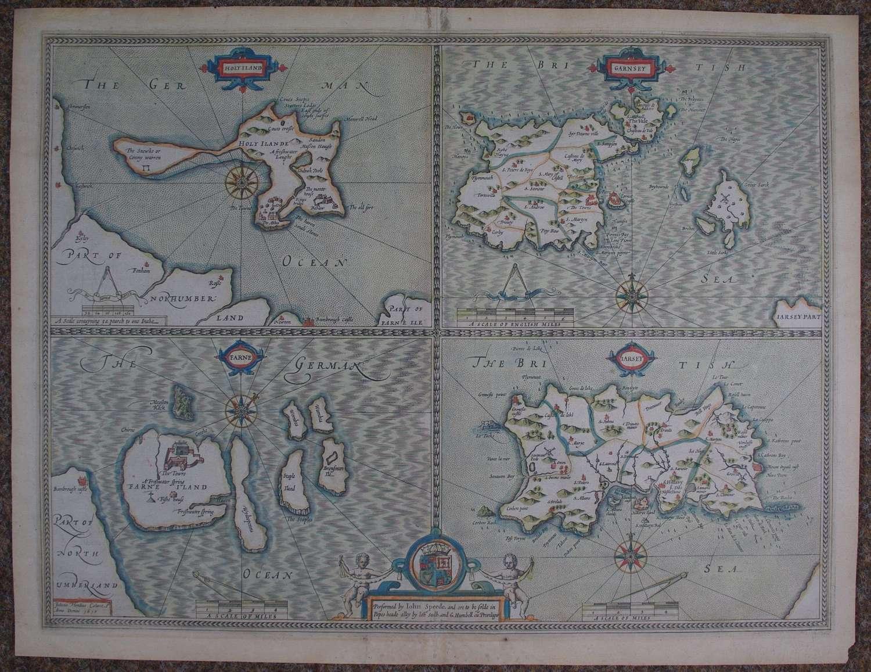 Holy Island; Garnsey; Farne; Jarsey byJohn Speed