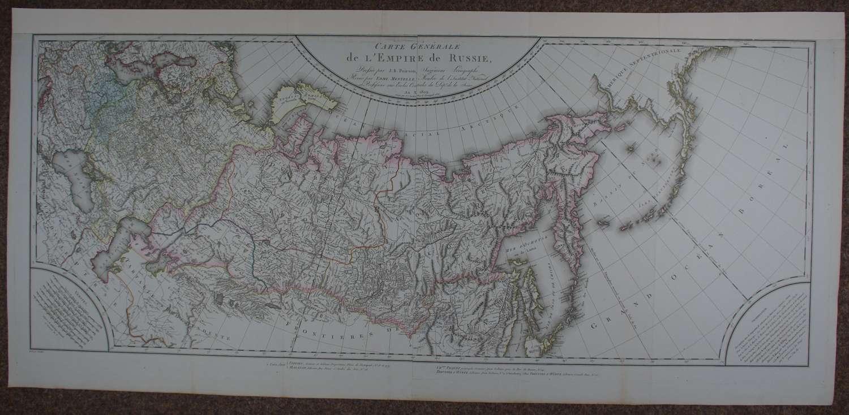 Carte Generale de l'Empire de Russie by JB Poirson