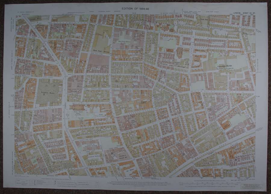 Ordnance Survey London. Sheet VII 57