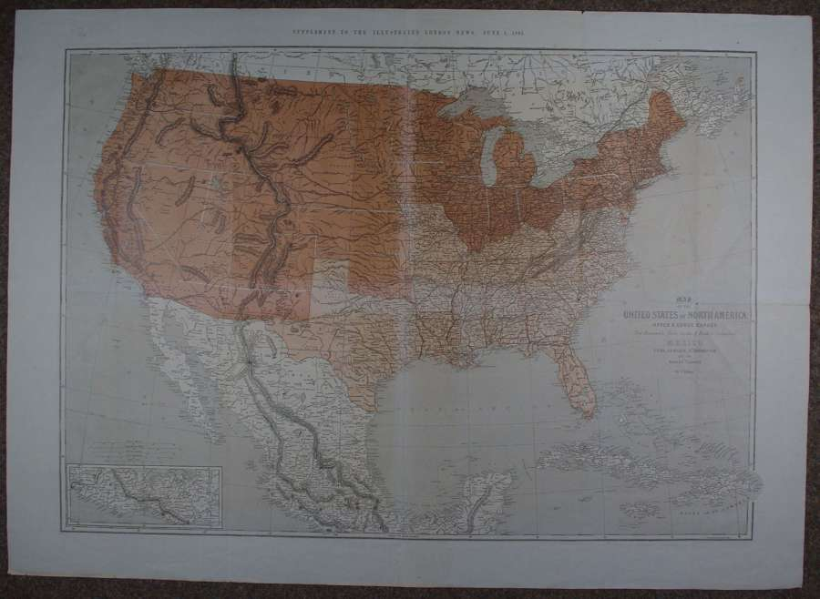 Map of the United States of North America by Theodor Ettling
