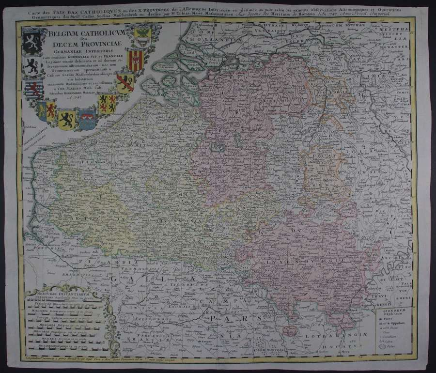 Belgium Catholicum seu Decem Provinciae by  Homann