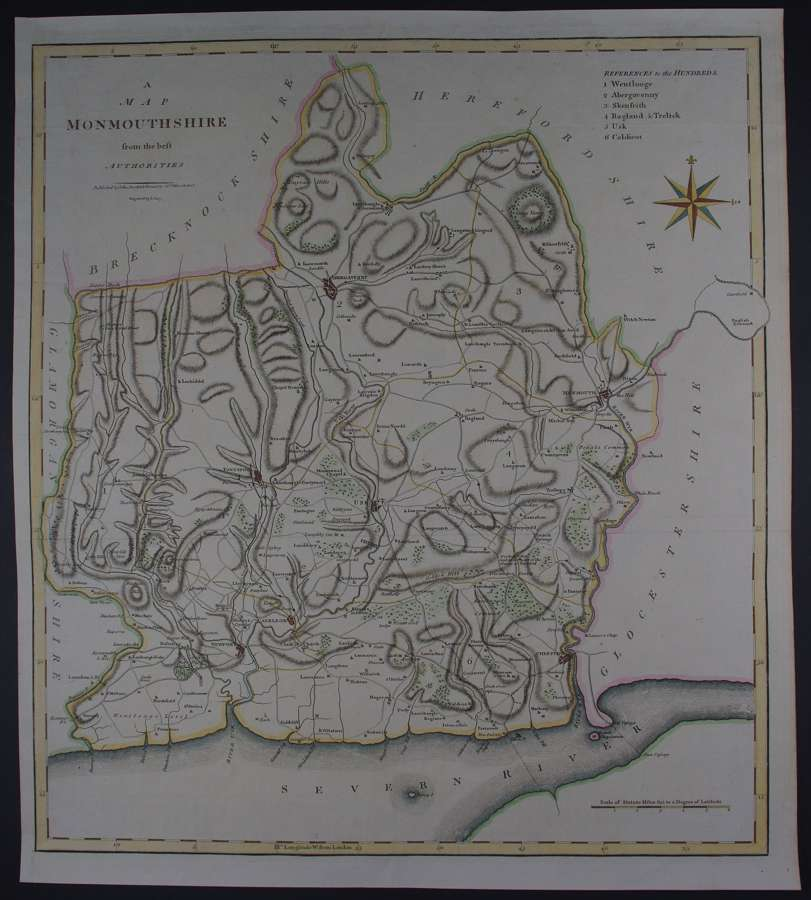 A Map of Monmouthshire by John Cary