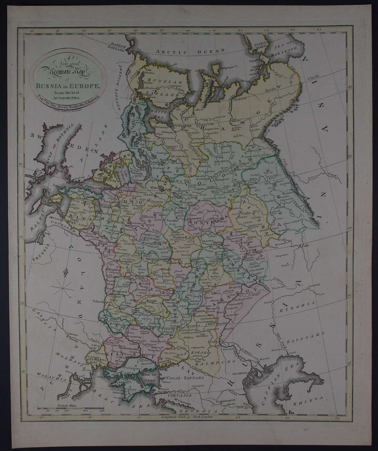 A New and Accurate Map of Russia in Europe By Thomas Brown