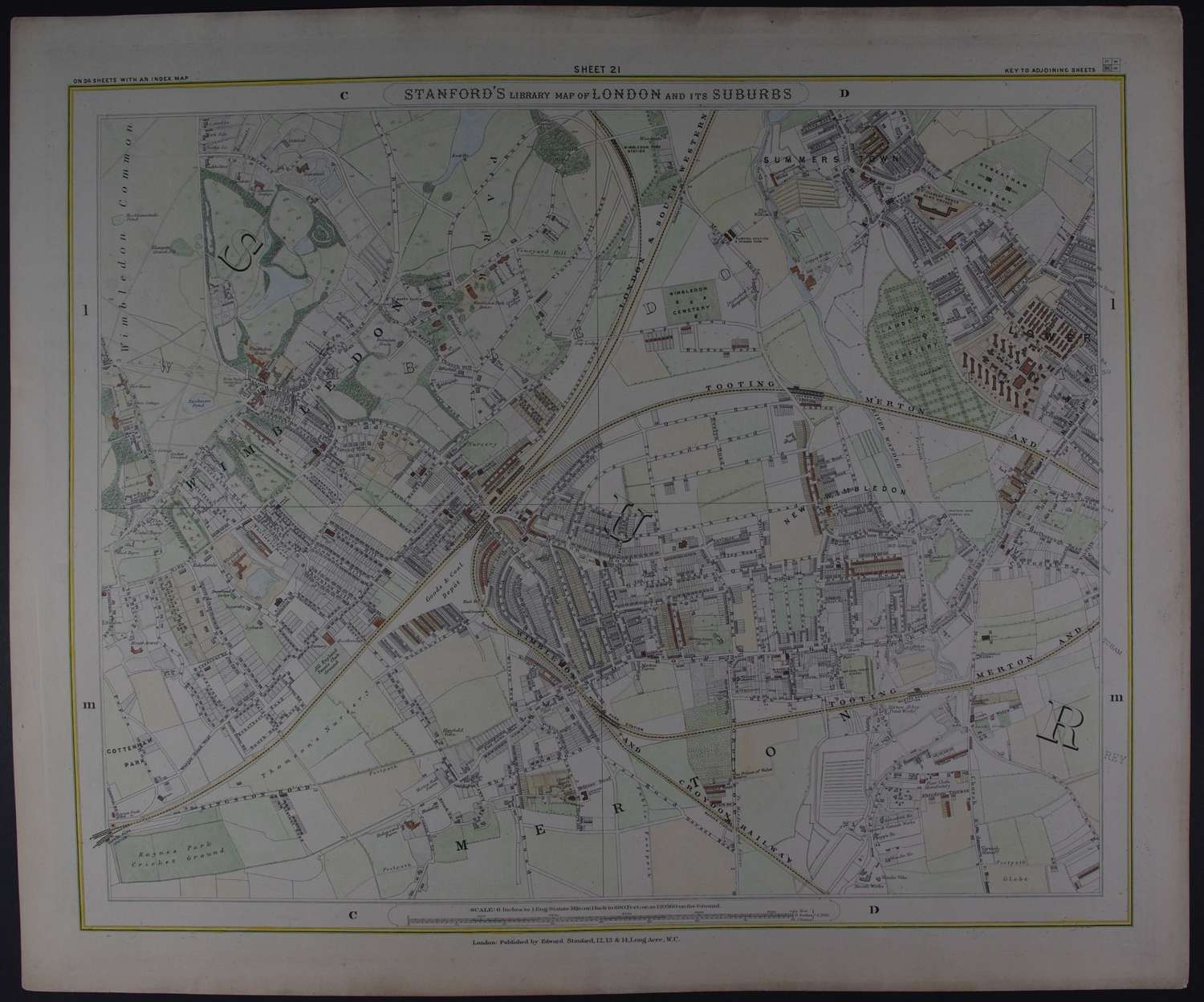 Canonbury, Hackney, Hoxton, Bethnal Green Sheet 7 by Edward Stanford