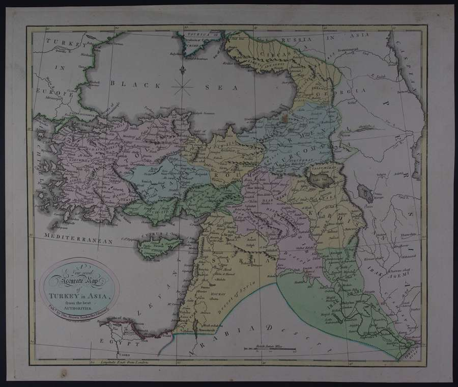 A New and Accurate Map of Turkey in Asia by Thomas Brown