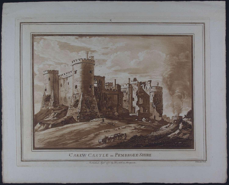 Carew Castle in Pembroke Shire by Paul Sanby