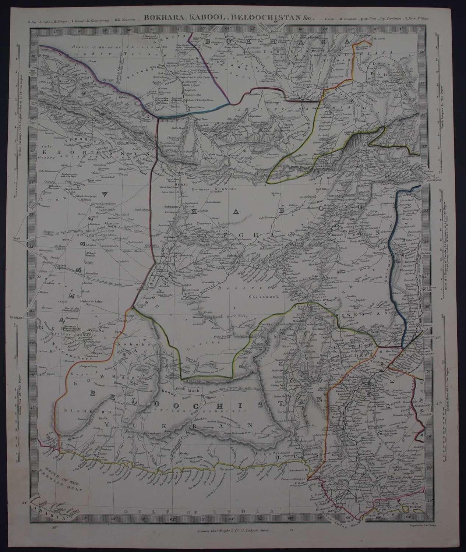 Bokhara, Cabool, Beloochistan, &c. by J and C Walker