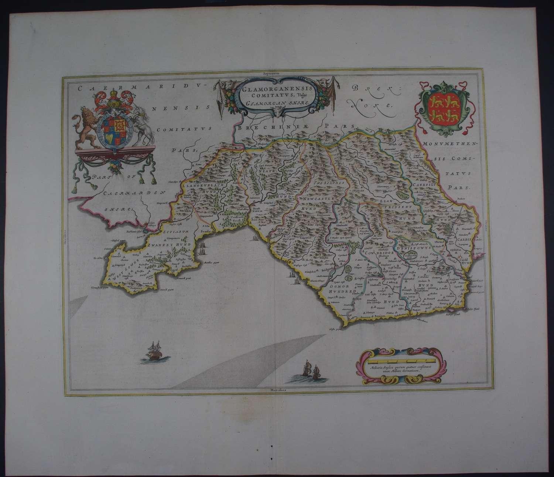 Glamorganensis Comitatus by Johannes Blaeu