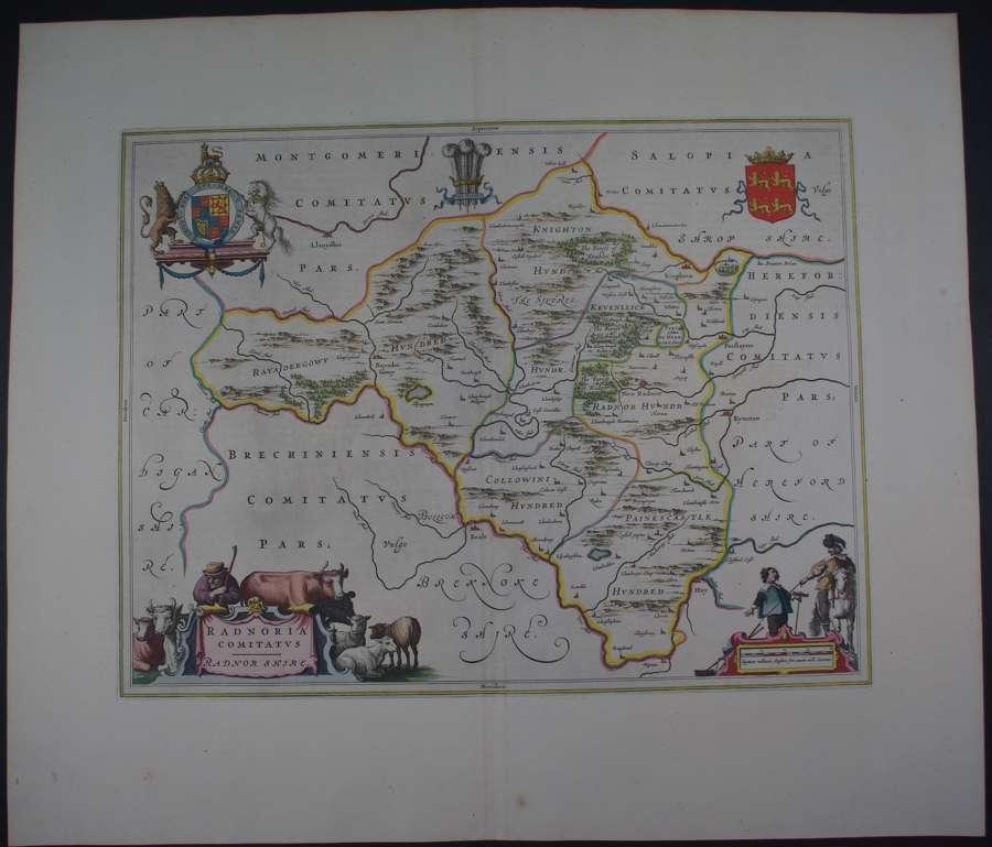 Radnoria Comitatus by Johannes Blaeu