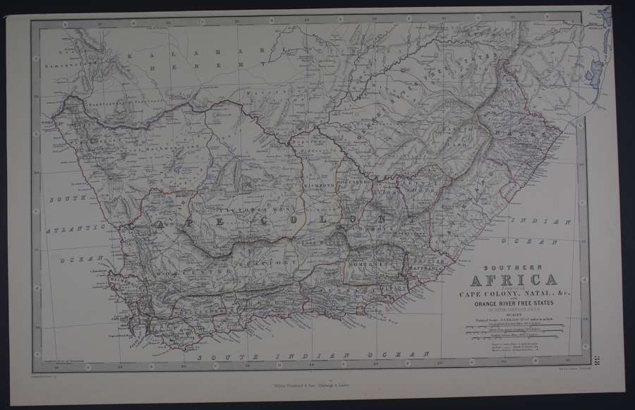 Southern  Africa comprising Cape Colony....by Johnston, W & A.K