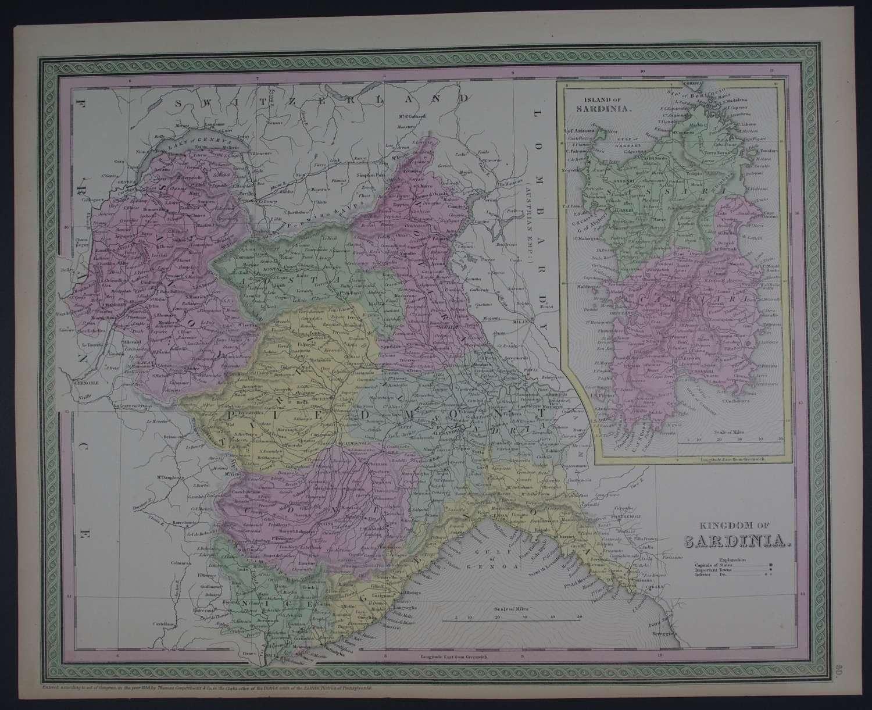 Kingdom of Sardinia by Thomas, Cowperthwait