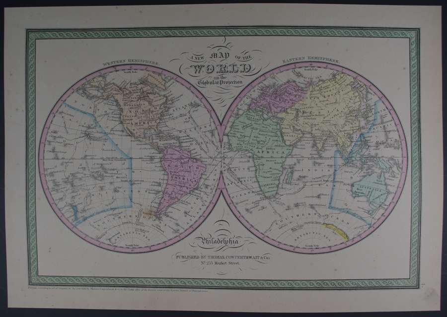 A New Map of the World... by Thomas Cowperthwait & Co