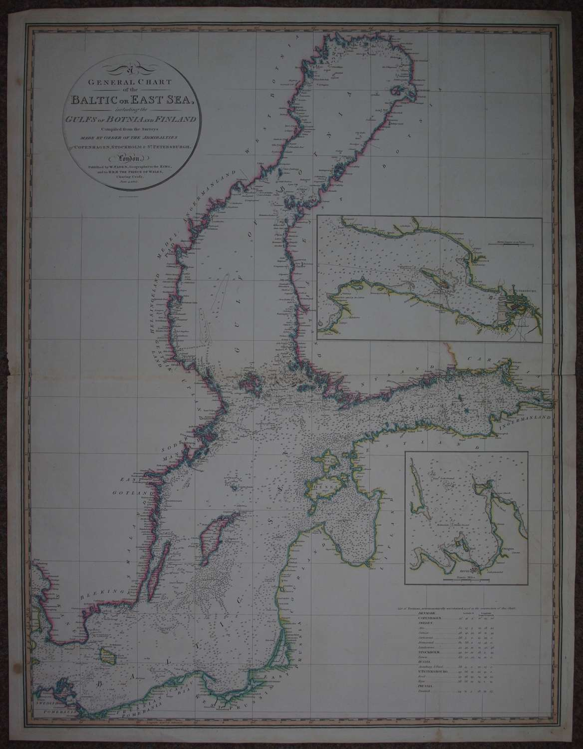 A General Chart of the Baltic or East Sea  by William Faden