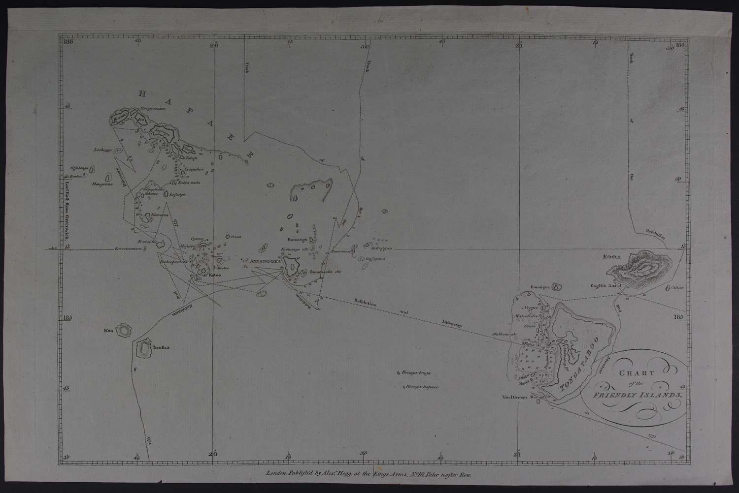 Chart of the Friendly Islands by ((Capt Cook) Alexander Hogg