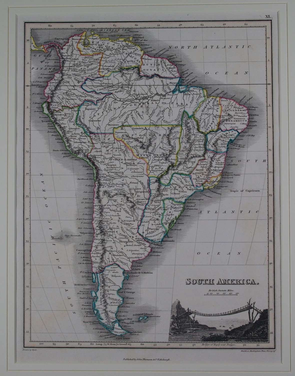 South America by J Wyld and NR Hewitt