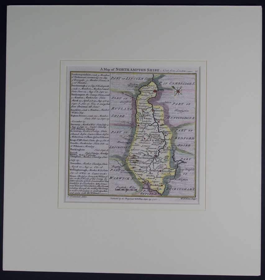 A Map of  Northamptonshire by Thomas Badeslade