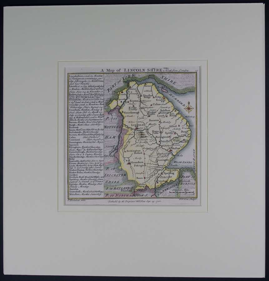 A Map of   Lincolnshire by Thomas badeslade