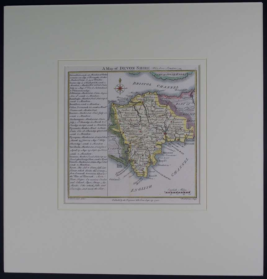 A Map of   Devon shire by Thomas Badeslade