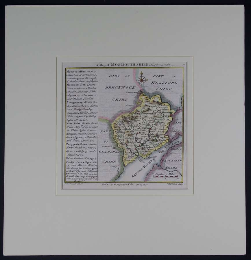 A Map of Monmouthshire by Thomas Badeslade