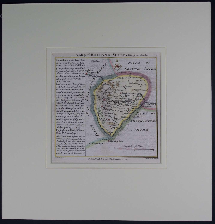 A Map of Rutland Shire by Thomas Badeslade