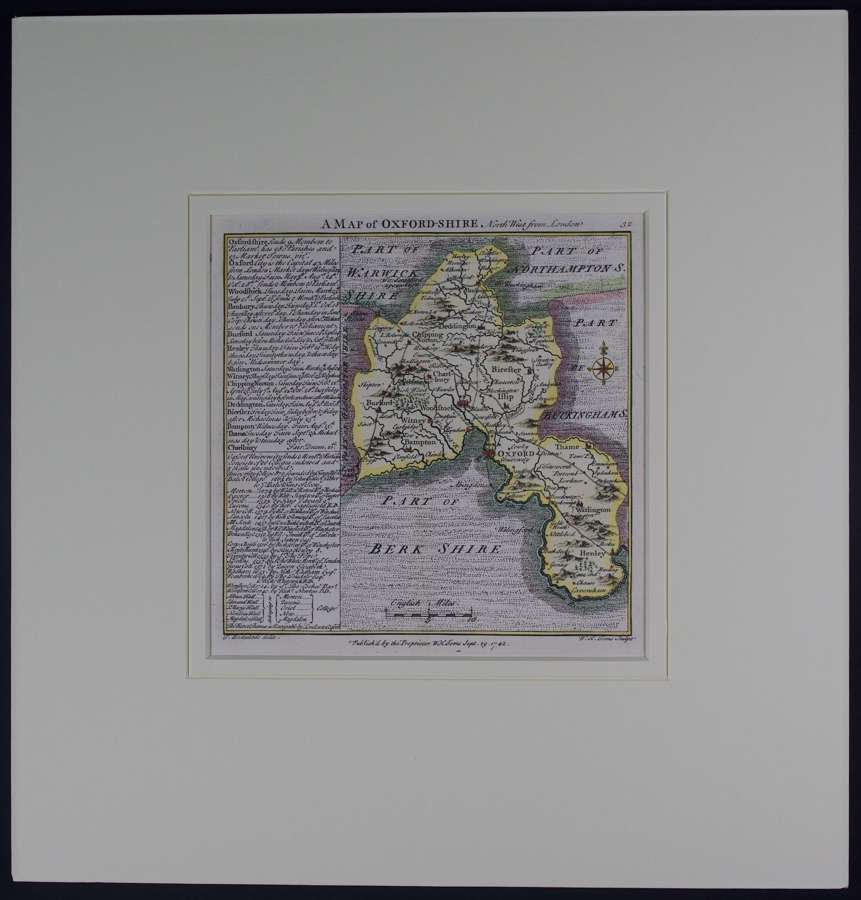 A Map of Oxfordshire by Thomas Badeslade