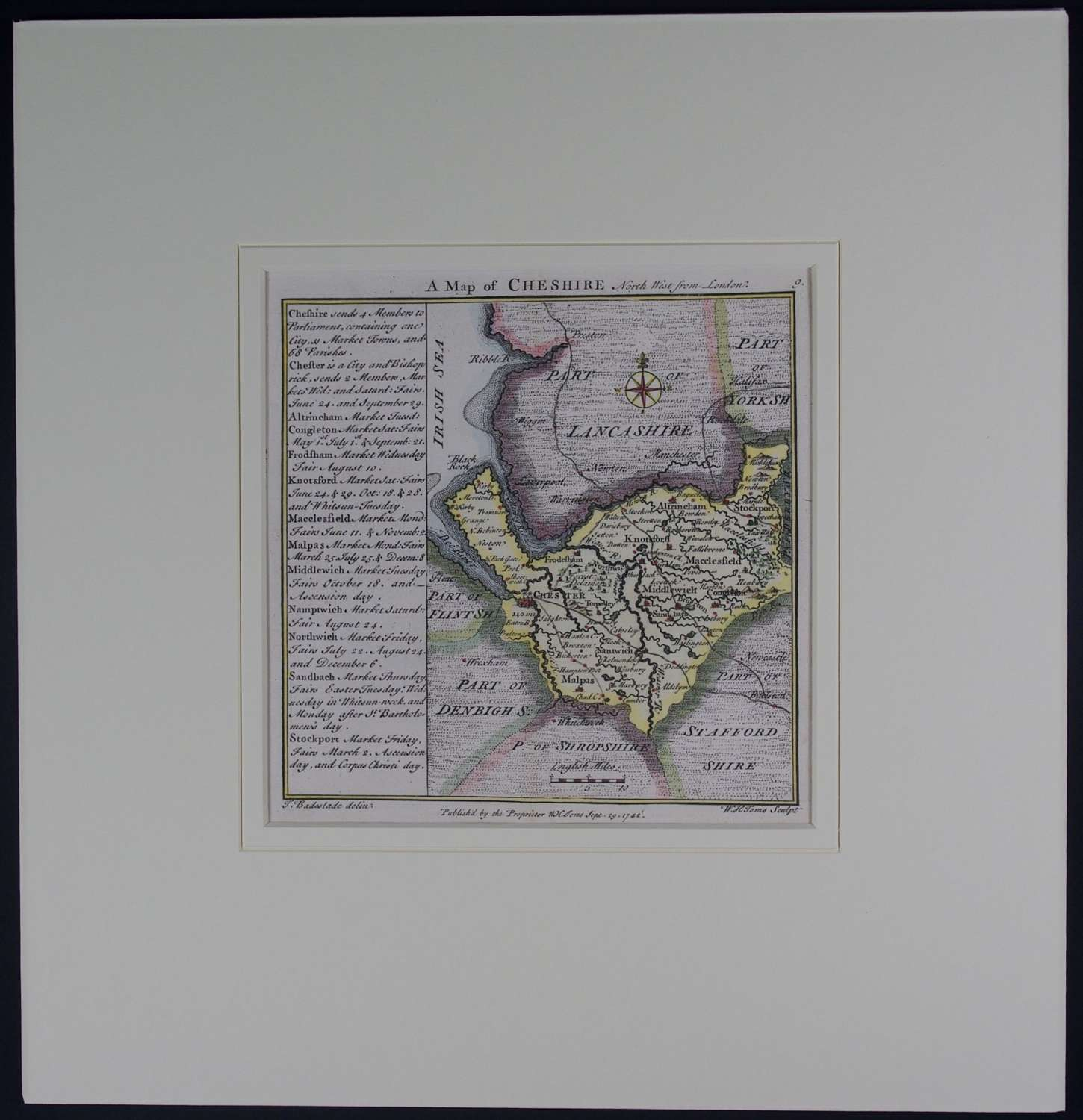 A Map of Cheshire by Thomas Badeslade