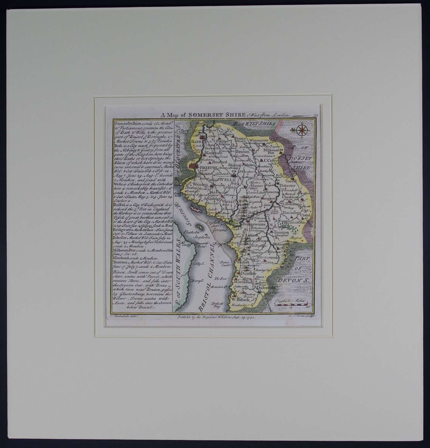 A Map of  Somerset Shire by Thomas Badeslade
