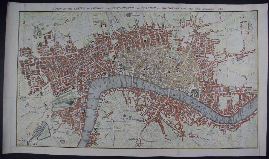 A Plan of the Cities of London anon ( possibly Thomas Kitchin )