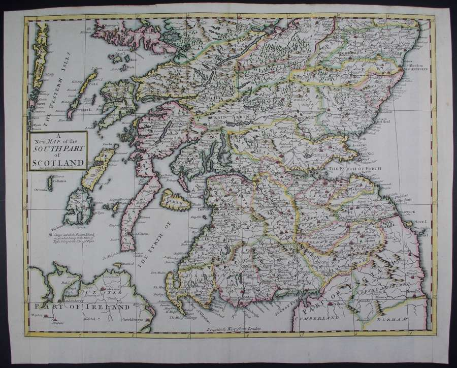 A New Map of the South Part of Scotland by Robert Morden