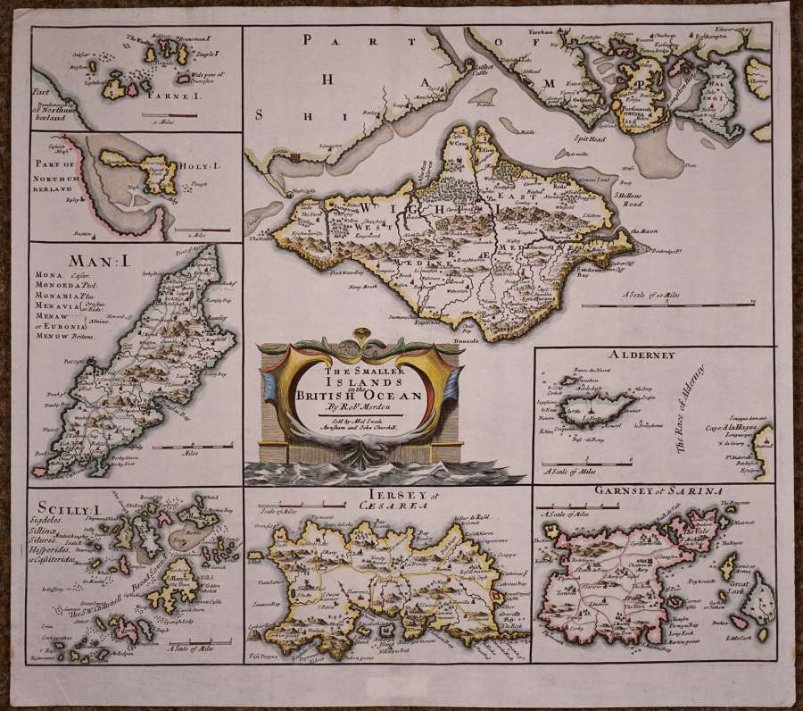The Smaller Islands in the British Ocean. 1st Edition by Robert Morden